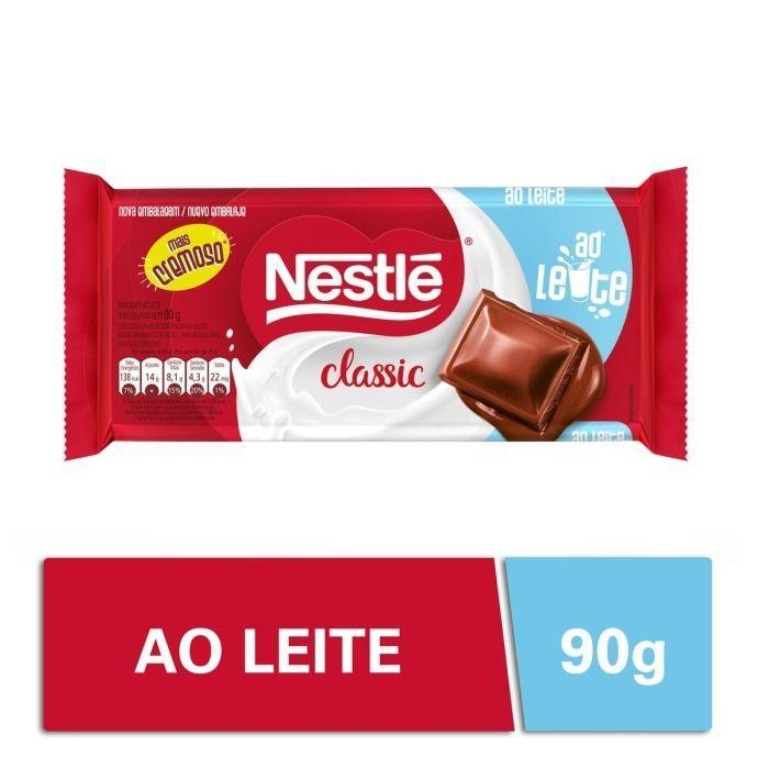 Chocolate ao leite 90g Nestlé/Classic  UN