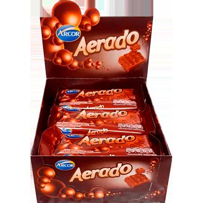 Chocolate ao leite aerado 15 unidades de 30g Arcor caixa CX
