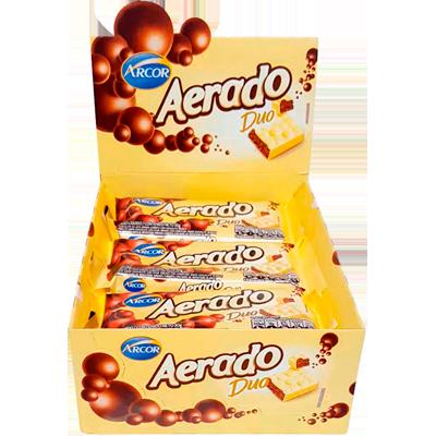 Chocolate ao leite aerado duo 15 unidades 30g Arcor caixa CX