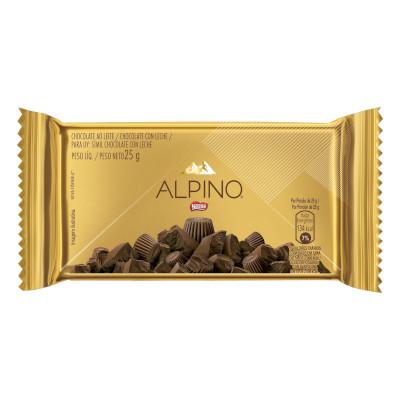 Chocolate ao leite 18 unidades 25g Nestlé/Alpino caixa CX
