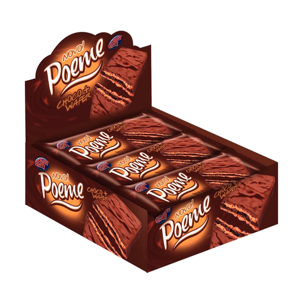 Chocolate ao leite 36 unidades de 40g Poeme caixa UN
