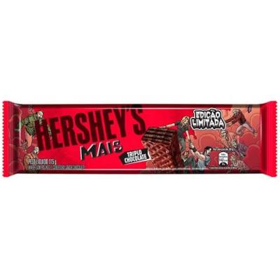 Chocolate ao leite triplo chocolate 102g Hershey's Mais  UN