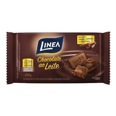 Chocolate ao leite zero açúcar 250g Linea  UN