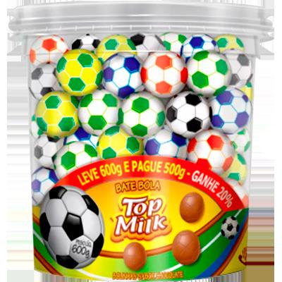 Chocolate bolinha 95 unidades Top Milk pote POTE