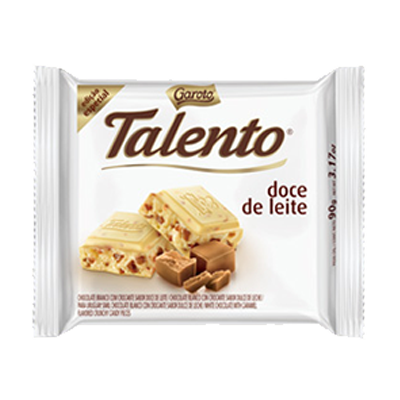 Chocolate Branco com Doce de Leite 90g Garoto/Talento unidade UN