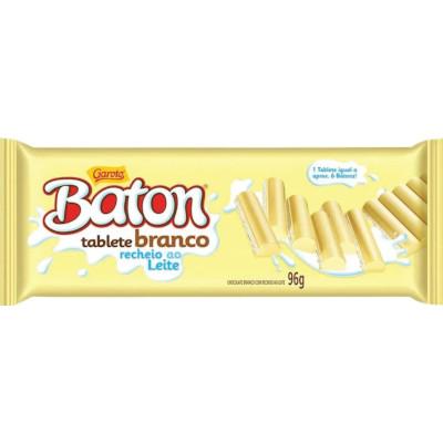 Chocolate branco tablete ao leite 96g Garoto/Baton  UN