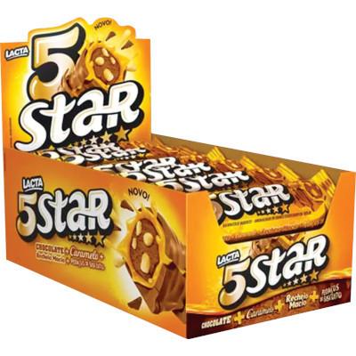Chocolate  18 unidades 40g Lacta/5 Star caixa CX