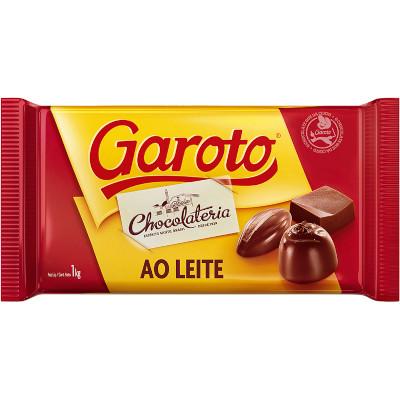 Barra de Chocolate Cobertura ao Leite 1kg Garoto  UN