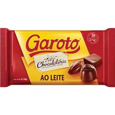 Barra de Chocolate Cobertura ao Leite 2,1kg Garoto  UN