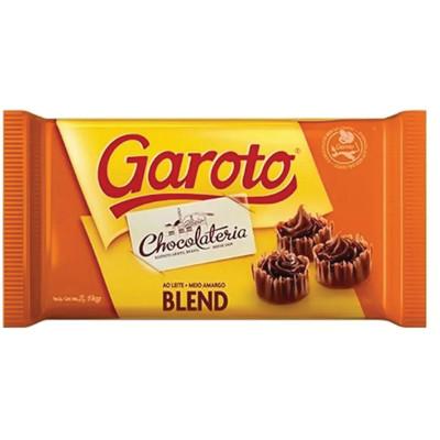 Chocolate cobertura blend ao leite + meio amargo 2,1kg Garoto  UN