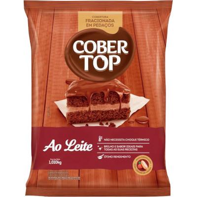 Chocolate cobertura fracionada em pedaços ao Leite  1,01kg Bel/Cober Top pacote PCT