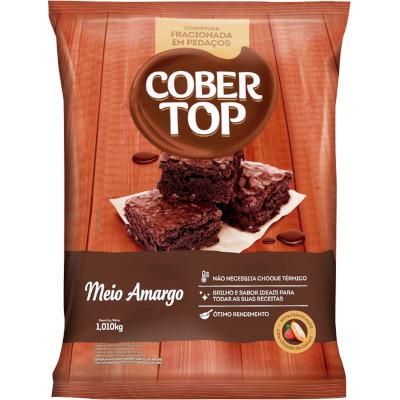 Chocolate cobertura fracionada em pedaços meio amargo 1,01kg Bel/Cober Top pacote PCT