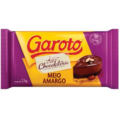 Cobertura de Chocolate Meio Amargo 2,1kg Garoto  UN