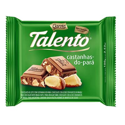 Chocolate com castanha do pará 100g Garoto/Talento  UN