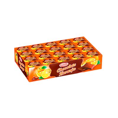 Chocolate com laranja 125 unidades de 8g Embaré caixa CX