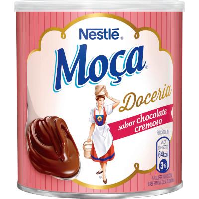 Chocolate cremoso pronto para consumo 380g Nestlé/Moça lata UN