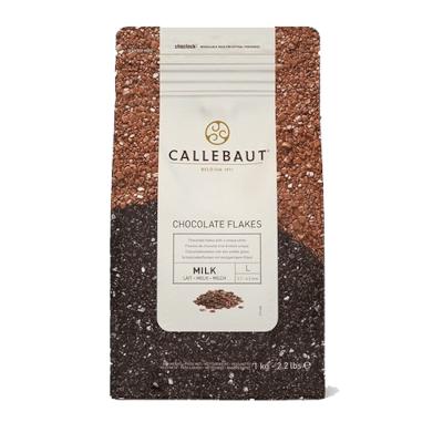 Chocolate em flocos split ao leite 1kg Barry Callebaut pacote PCT