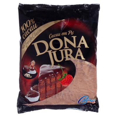 Chocolate em pó 100% cacau 200g Dona Jura pacote PCT