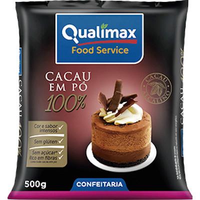 Chocolate em pó 100% cacau 500g Qualimax pacote PCT
