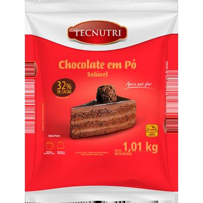 Chocolate em pó 32% cacau 1kg Tecnutri pacote PCT