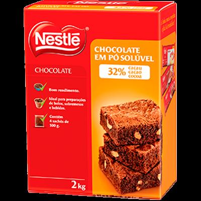 Chocolate em Pó 32% Cacau 2kg Nestlé pacote PCT