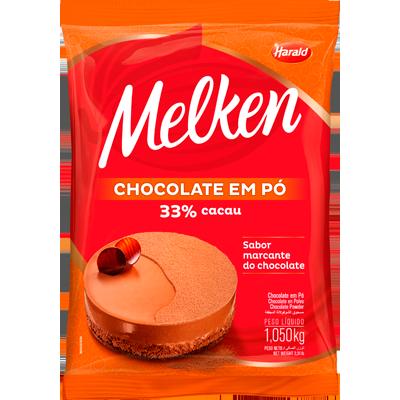 Chocolate em pó 33% cacau 1,05kg Harald/Melken pacote UN