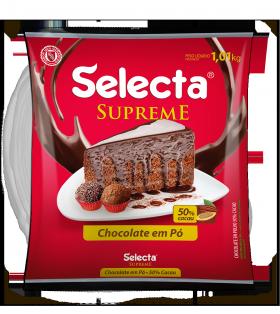 Chocolate em pó 50% cacau 1kg Selecta pacote PCT