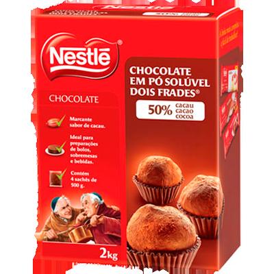Chocolate em Pó Solúvel 50% Cacau 2kg Nestlé pacote PCT