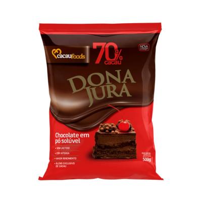 Chocolate em pó 70% cacau 500g Dona Jura pacote PCT