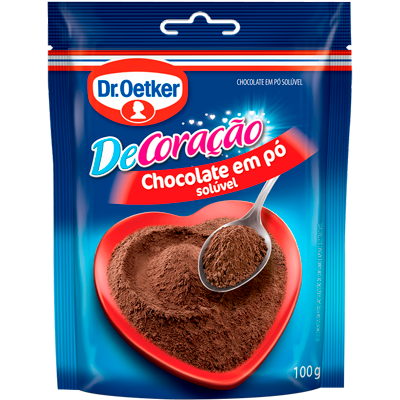 Chocolate em pó  100g Dr. Oetker pacote PCT