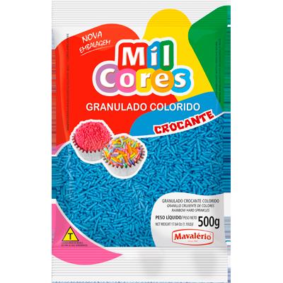 Chocolate Granulado azul 500g Mavalerio pacote PCT