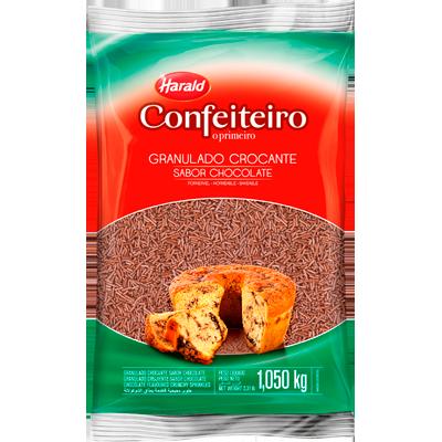 Chocolate Granulado crocante 1kg Harald pacote PCT