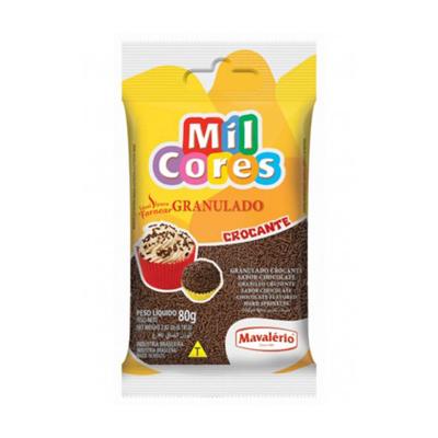 Chocolate Granulado Crocante 80g Mavalerio pacote PCT