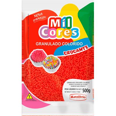 Chocolate Granulado Crocante Vermelho 500g Mavalerio pacote PCT
