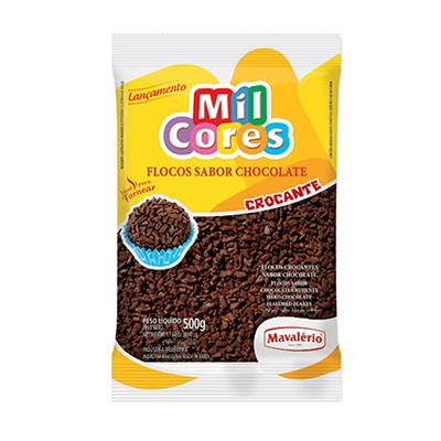 Chocolate Granulado Flocos Crocantes 500g Mavalerio pacote PCT