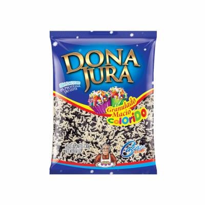 Chocolate Granulado Macio Branco e Preto 130g Dona Jura pacote PCT