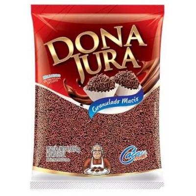 Chocolate Granulado macio 1kg Dona Jura pacote PCT