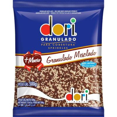 Chocolate Granulado mesclado 500g Dori pacote PCT