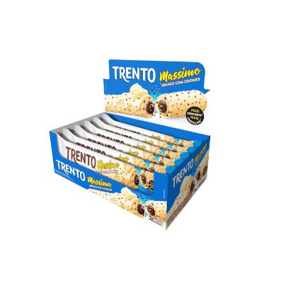 Chocolate massimo chocolate branco com cookies 16 unidades Trento caixa UN
