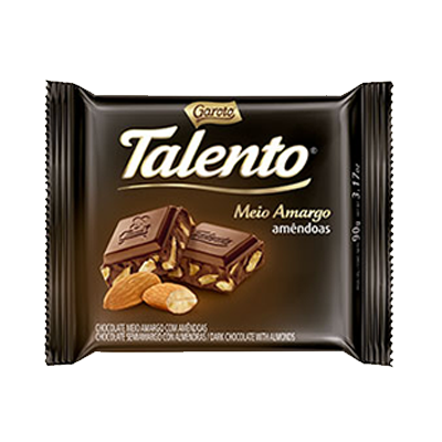 Chocolate meio amargo 100g Garoto/Talento  UN