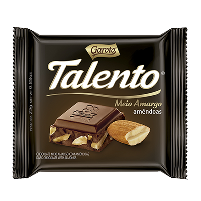 Chocolate Meio Amargo 25g Garoto/Talento unidade UN