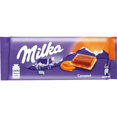 Chocolate recheado com caramelo 100g Milka  UN