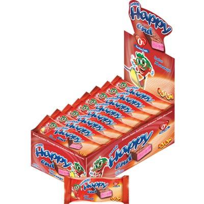 Chocolate recheio de morango (moranguete) 144 unidades Jazam caixa CX