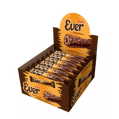 Chocolate wafer recheado com castanha 20 unidades Ever caixa UN