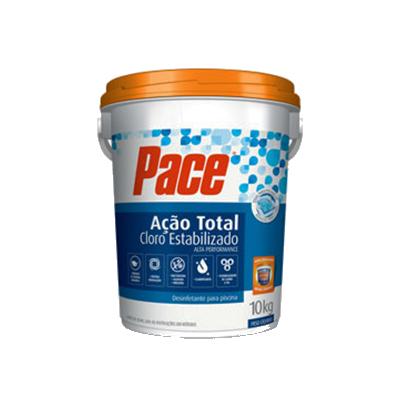 Cloro estabilizado granulado ação total 10kg PACE balde BD
