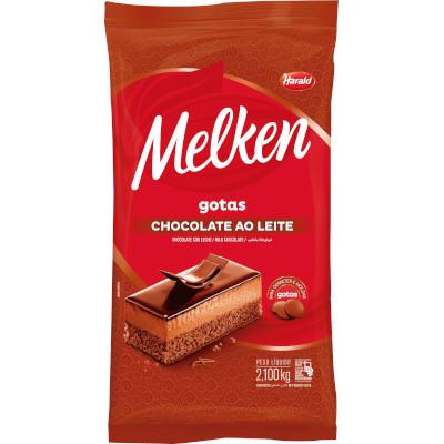Cobertura de Chocolate ao Leite em Gotas 2,1kg Harald/Melken  UN