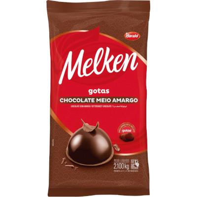 Chocolate meio amargo em gotas 2,1kg Harald/Melken  UN