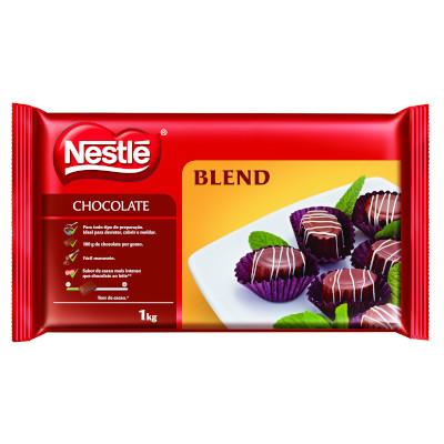 Cobertura de chocolate blend 1kg Nestlé  UN