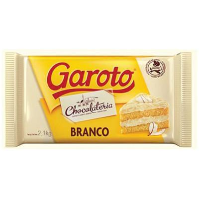 Cobertura de Chocolate Branco 2,1kg Garoto  UN