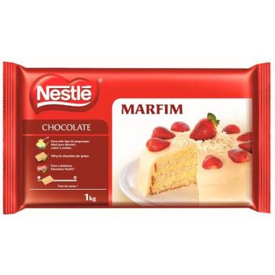 Cobertura de chocolate branco marfim 1kg Nestlé  UN